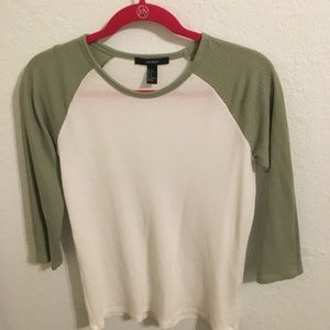 Forever 21 knit baseball tee size small